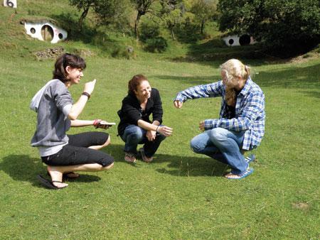 Friends at Hobbiton