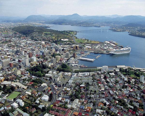 Hobart Tasmania Downtown