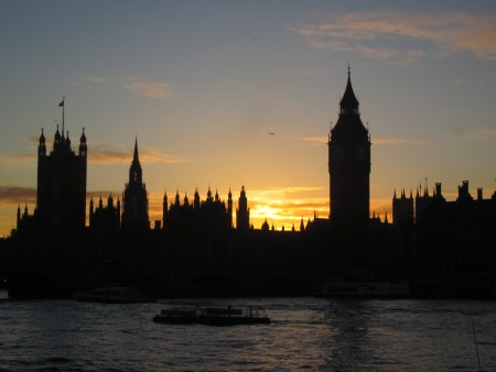 Parliment at sunset, London