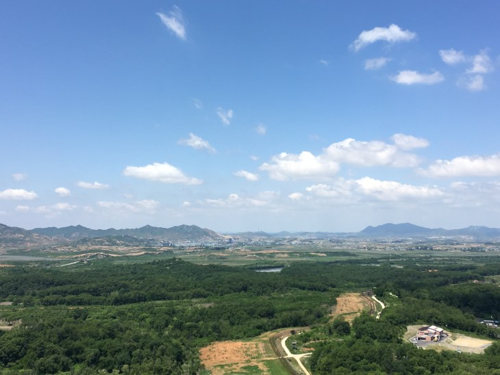 Here is the view from the Dora Observatory! (Mountains and lush greenery)