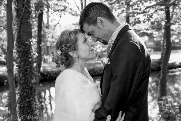 Studio GCNH photos pas chères couple marié noir et blanc