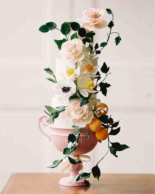 spring wedding inspiration and ideas wedding cake with flowers whitney heard studio i do