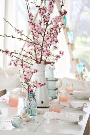 spring wedding inspiration and ideas cherry blossom centerpiece studio i do