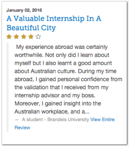 BU-Sydney Australia review