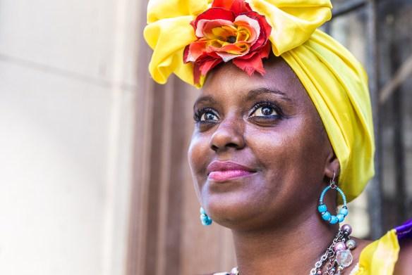 Portrait of cuban woman in Havana, Cuba