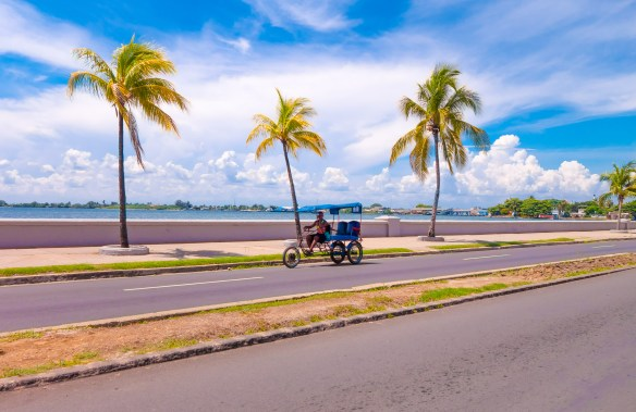 TRINIDAD CUBA - SEPTEMBER 12 2015: Cienfuegos is a charming waterfront city situated on the bay of the same name.