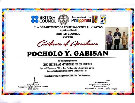 Certificate of Attendance - Pocholo Gabisan (1)