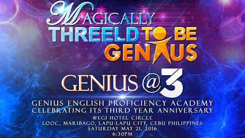 Genius_english_anniversary_poster