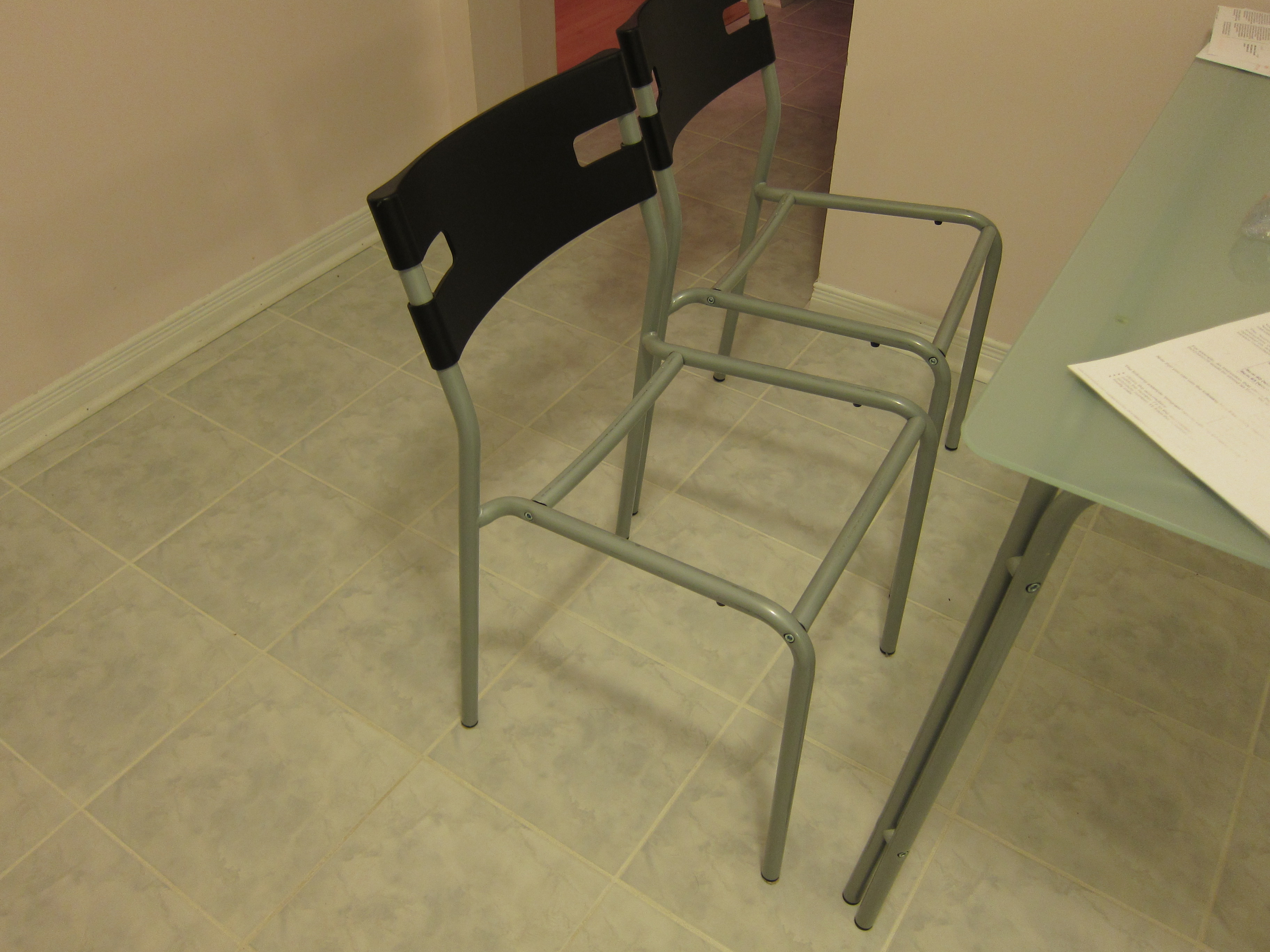 steel chair repair hanging nest outdoor ikea laver blog frame without seat