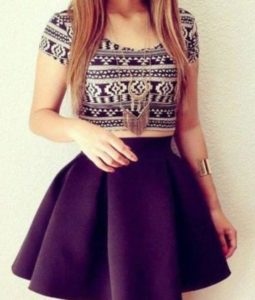 qlx7cs-l-610x610-skirt-skater+skirt-black-cute-girly-aztec-crop+tops
