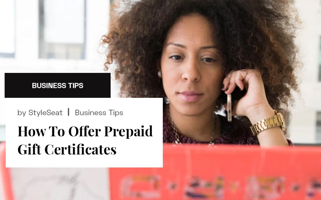 How To Offer Prepaid Gift Certificates