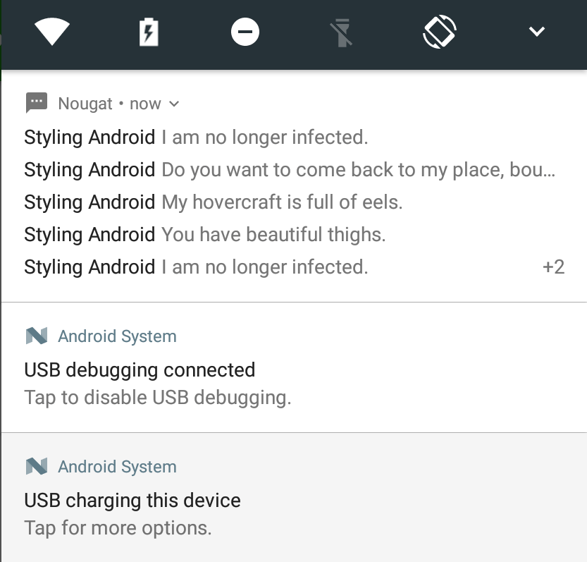 Nougat – Bundled Notifications – Styling Android