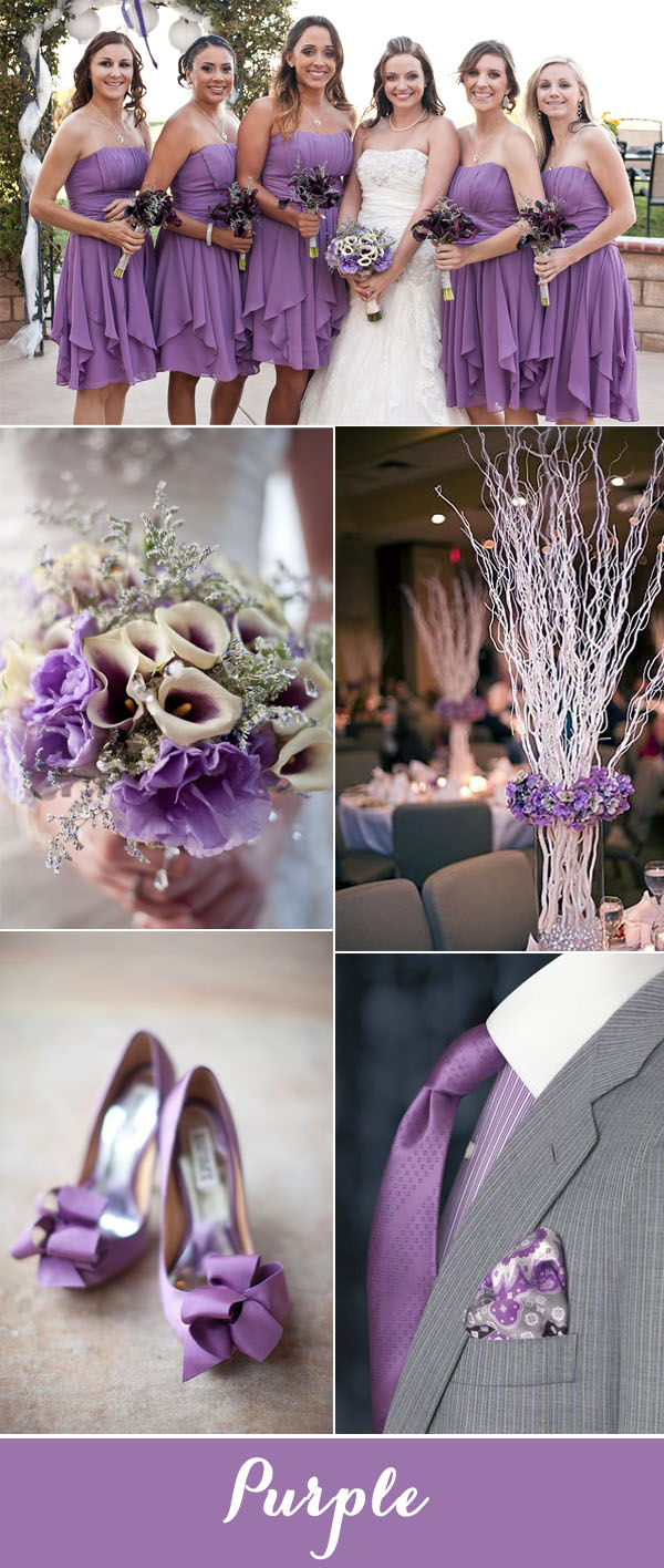 Top 7 Purple and Grey Wedding Color Palettes for 2017