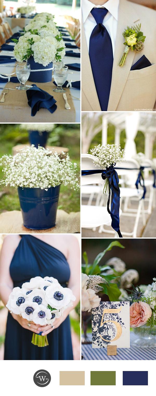 Stunning Navy Blue Wedding Color Combo Ideas for 2017 Trends  Stylish Wedd Blog