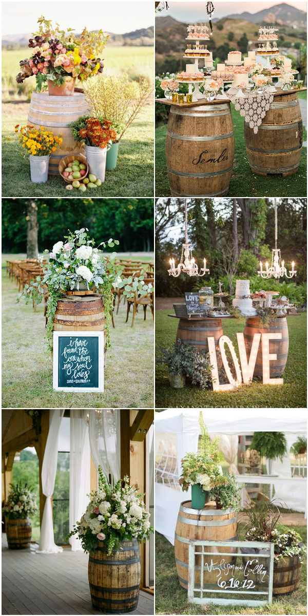 Top 5 Rustic  Bohemian Chic Wedding Color Palettes We