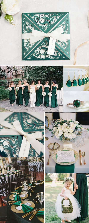 Five Stylish Wedding Invitations to Perfectly Match Your Wedding Colors  Stylish Wedd Blog
