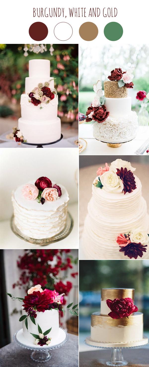 burgundy wedding colors  Stylish Wedd Blog