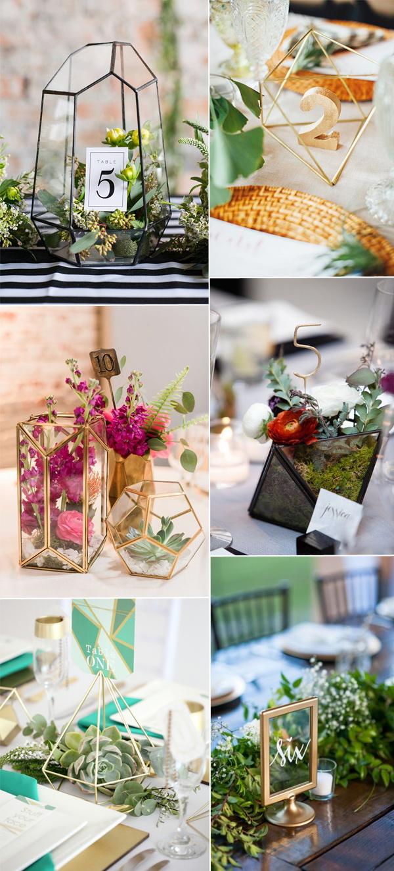 2017 Wedding Trends Geometric Terrarium  Stylish Wedd Blog