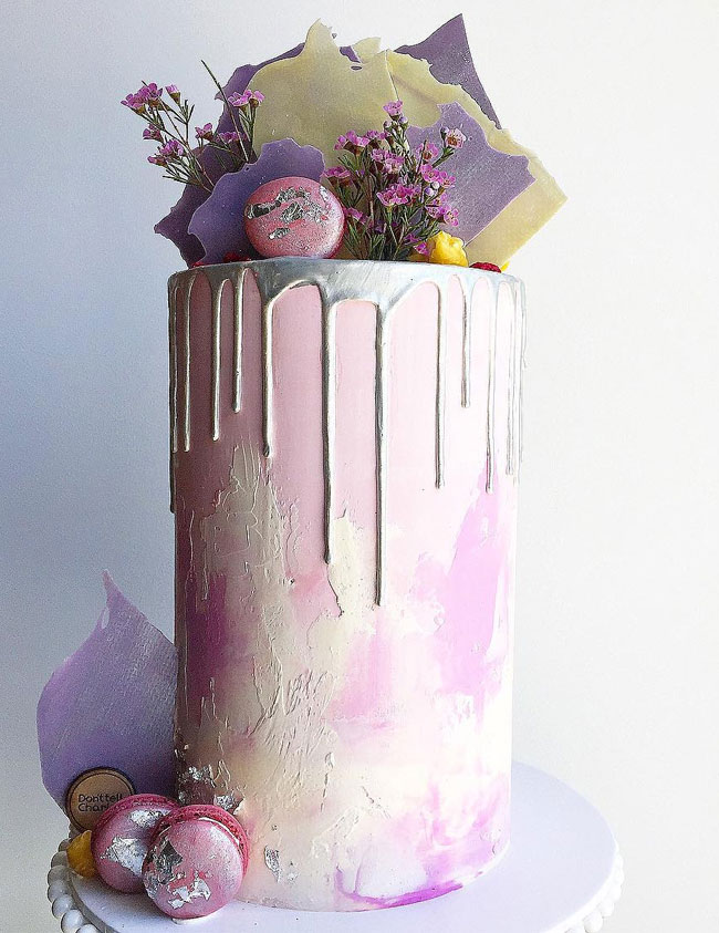 And Cakes Purple Lavender Wedding