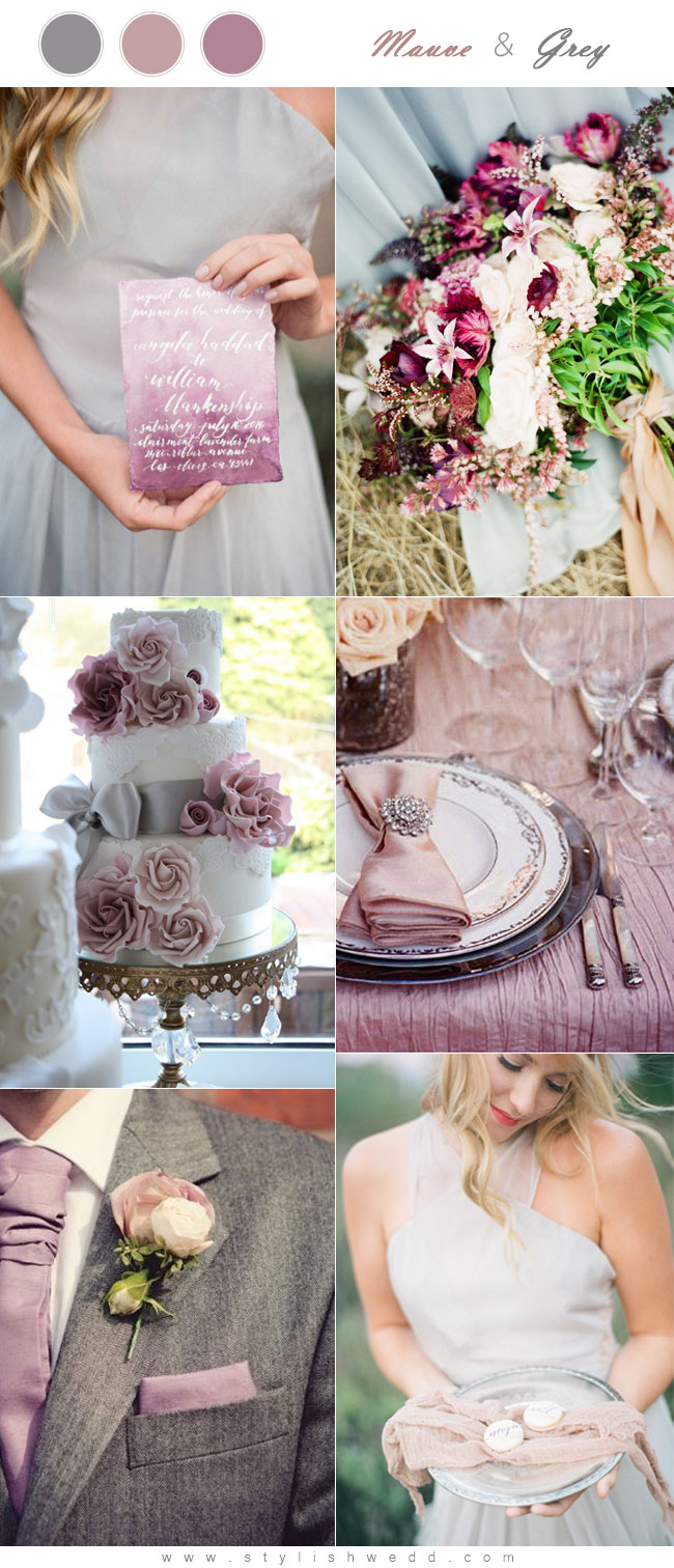 The Hottest 6 Mauve Wedding Color Palettes to Die For