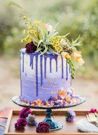 20 Trendy Drip Wedding Cakes That Make your Dessert Table ...
