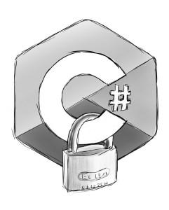 C# Logo with Lock