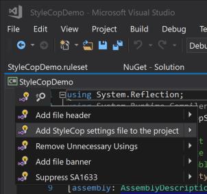 Adding-stylecop-json