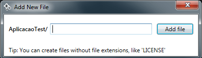 add new file prompt