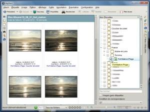 Filtrer les images en fonction des étiquettes (digiKam)