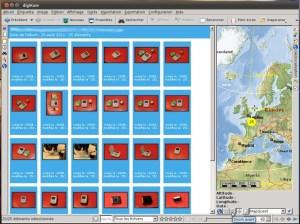 Les photos apparaissent sur la carte dans digiKam