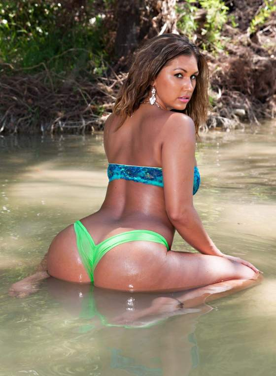 Autumn's Lime Green Bikini
