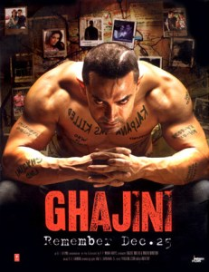 Ghajini Hindi Movie Poster