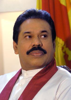 The President Mahinda Rajapaksha