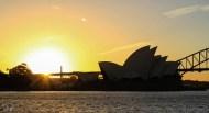 Coucher de soleil sur l'opéra