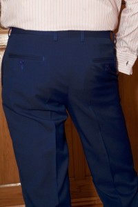 Gentian Blue Summer Trousers (rear view)