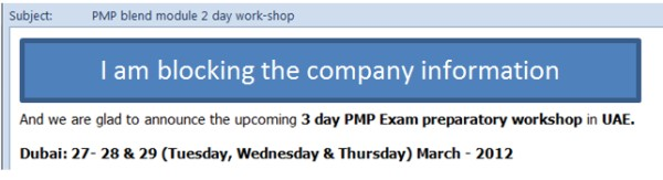 PMP Training Provider Case