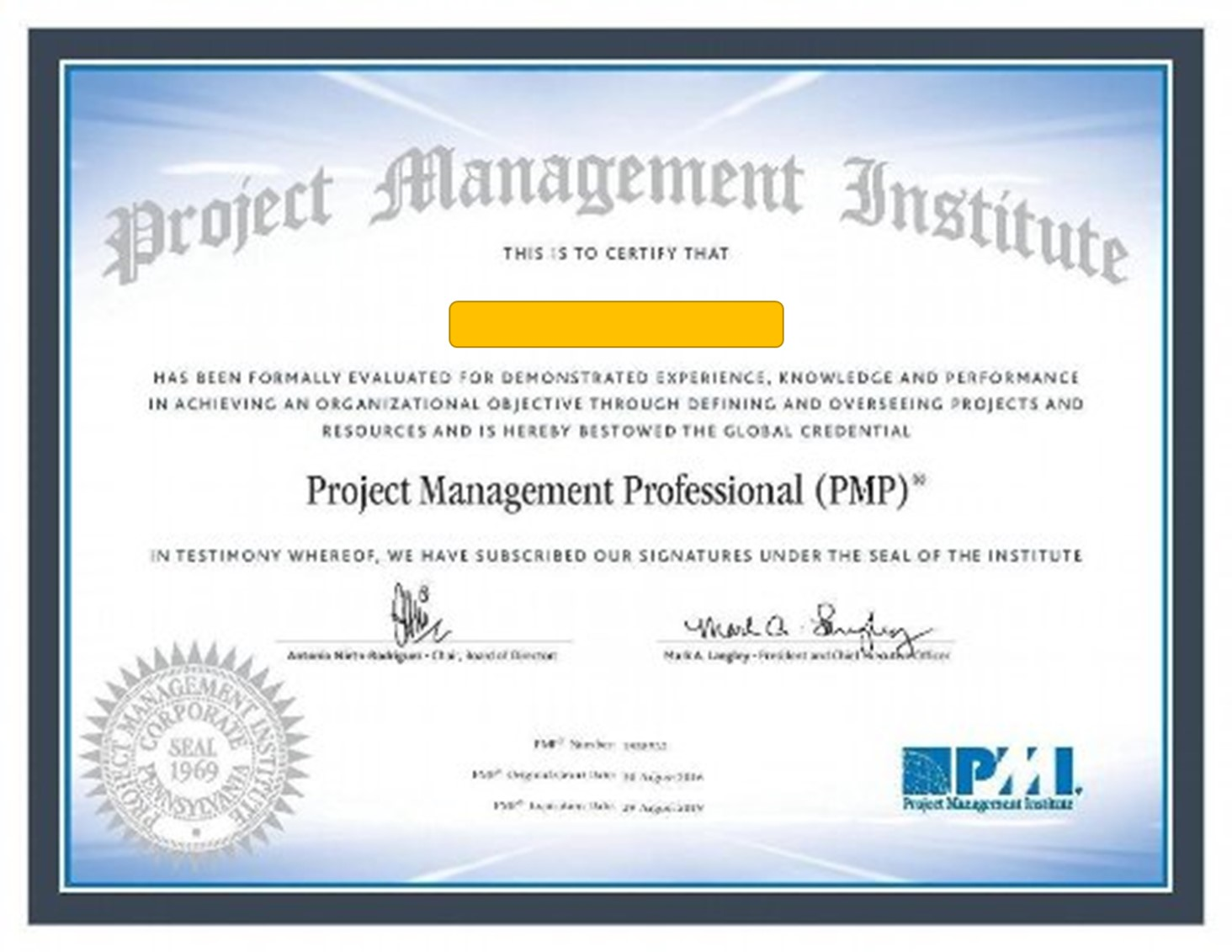 The Pmp Certificate From 2016 Applied Project Management