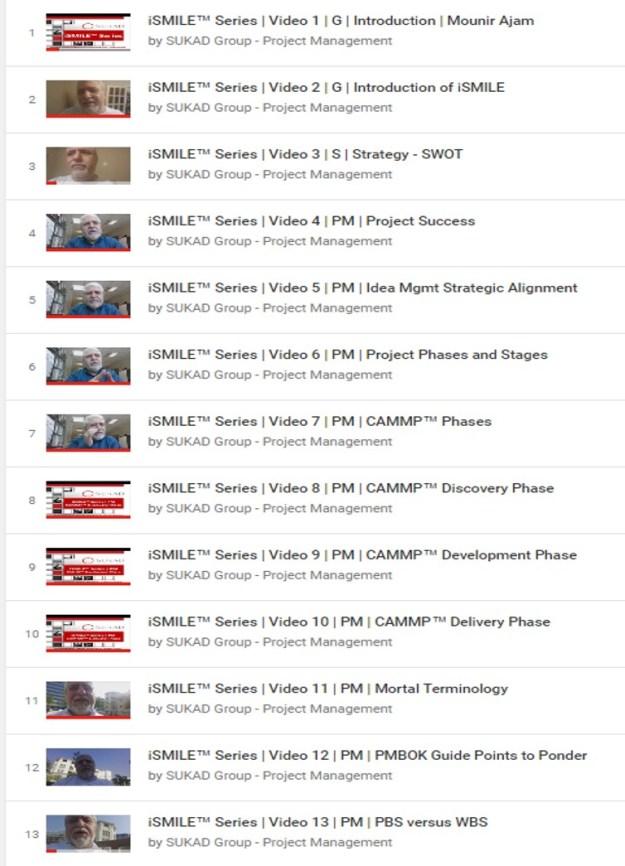 iSMILE - Project Management Short Videos