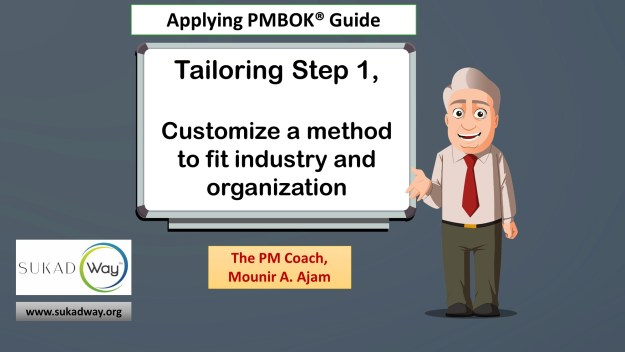Tailoring Step 1: Customize to industry and organization | tailored project management methods