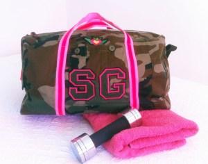 Sporttasche aus Military-Hose