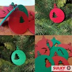SULKY® Weihnachtskugeln, Filz