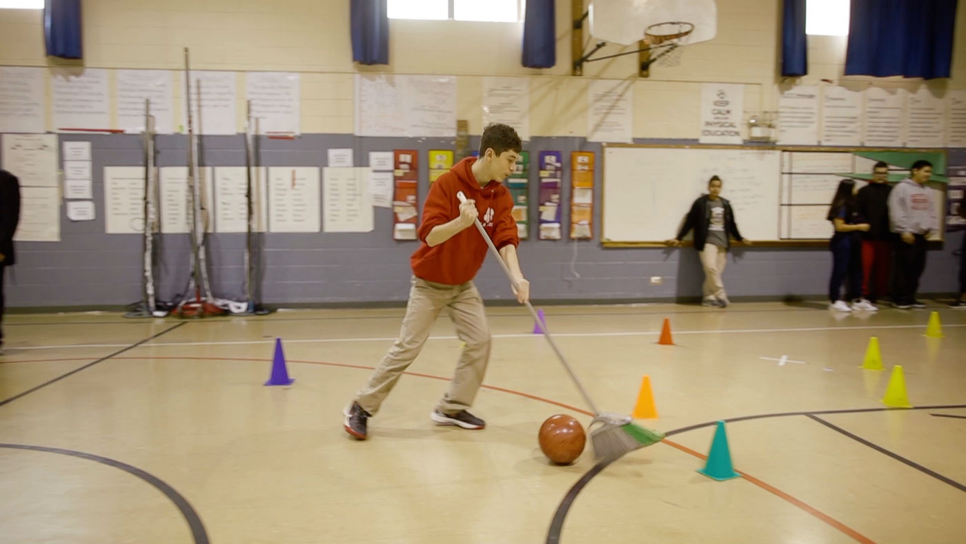 Project Based Learning Teaching Newton S Laws With Broomball
