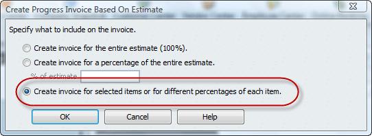 create invoice from estimate