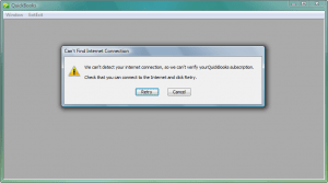 QuickBooks 2011 - Can't verify subscription