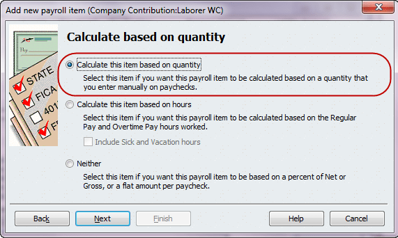 calculate based on quantity