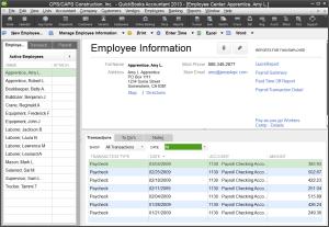 Employee Center QuickBooks 2013