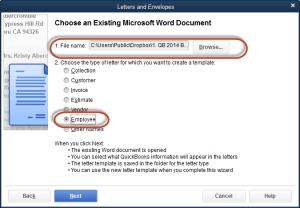 1. select document