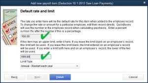 employee loan deduction saw
