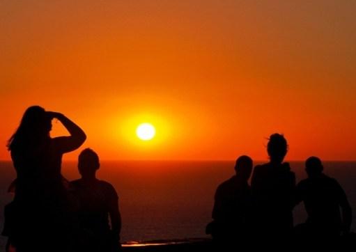 Zonsondergang in Molyvos