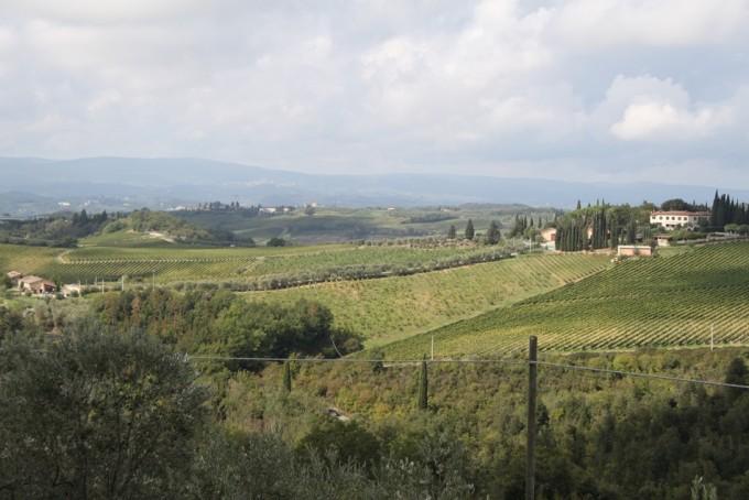Uitzicht Toscane landschap
